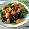 Sautéed Potato, Green Pepper & Eggplant